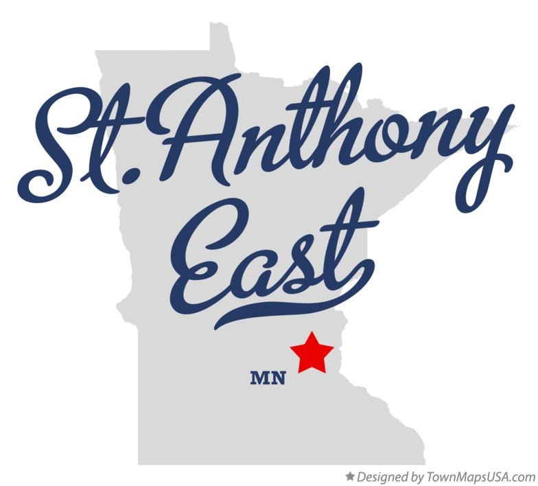 Map of St.Anthony East Minnesota MN