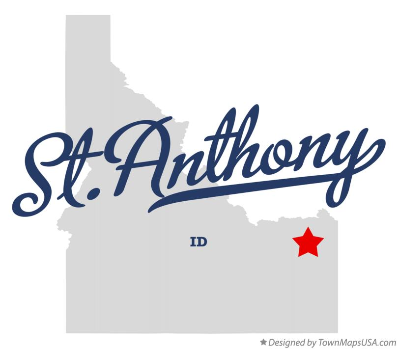 Map of St.Anthony Idaho ID