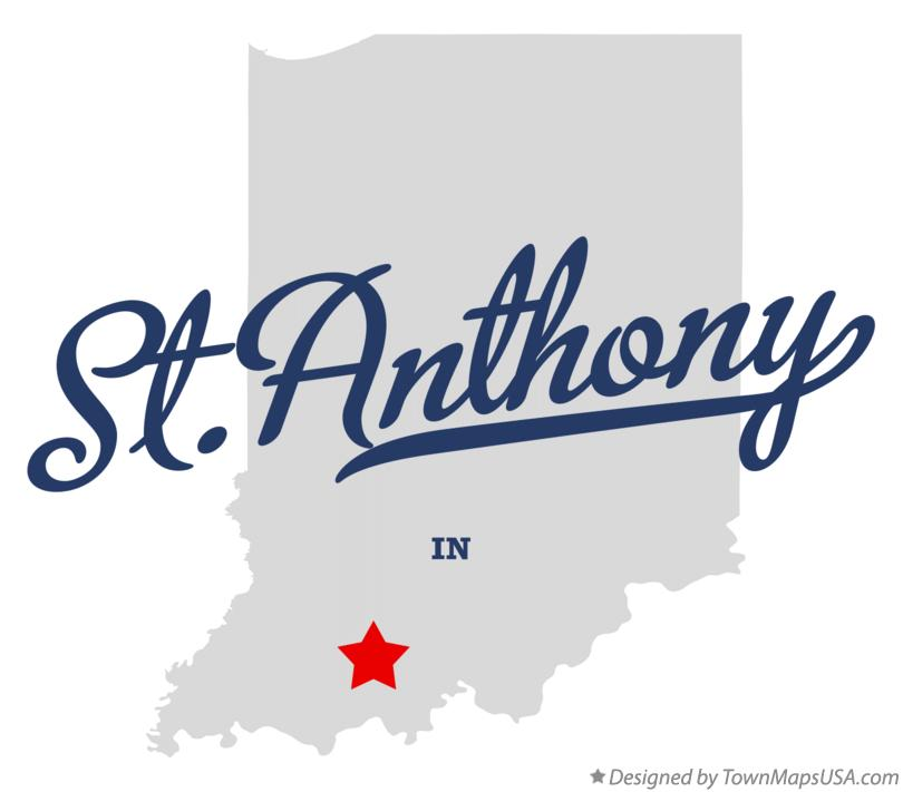Map of St.Anthony Indiana IN