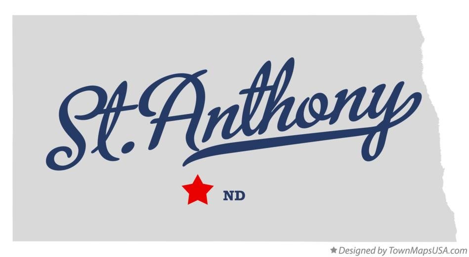 Map of St.Anthony North Dakota ND