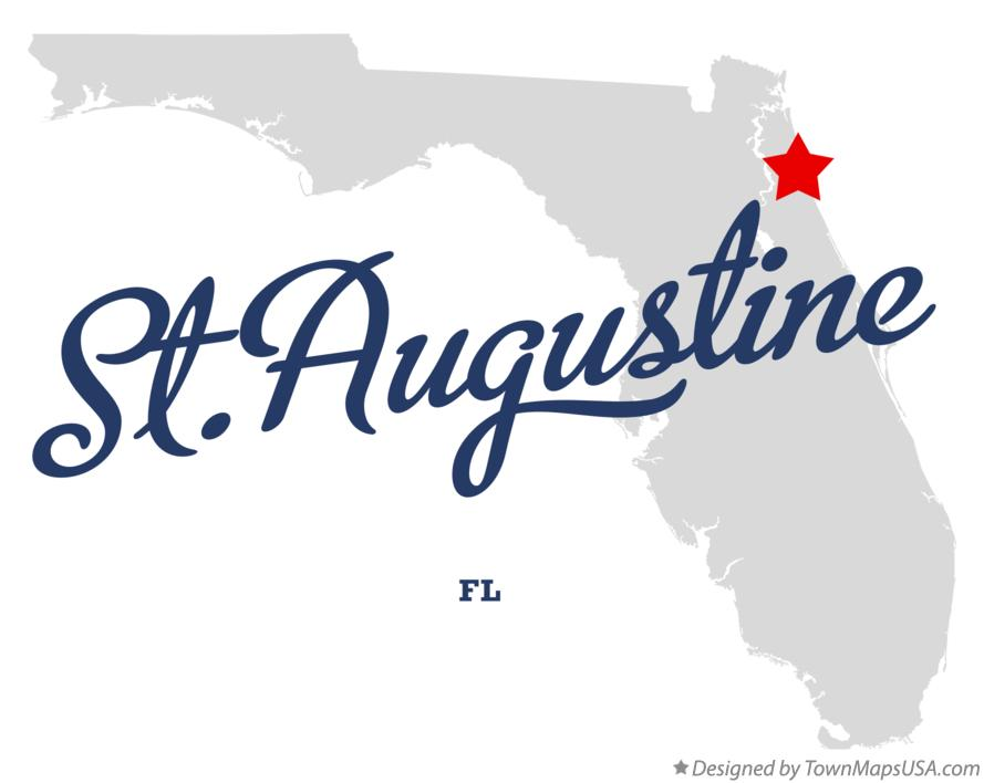 Map of St.Augustine Florida FL