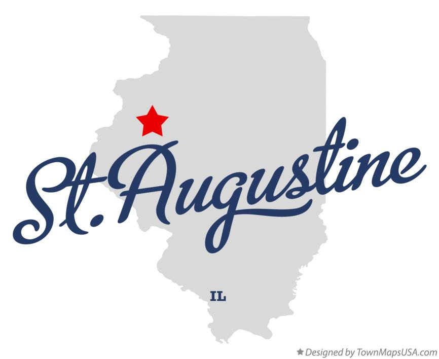 Map of St.Augustine Illinois IL