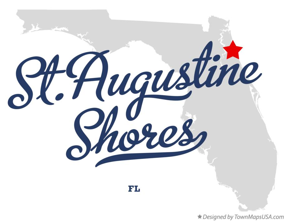 Map of St.Augustine Shores Florida FL