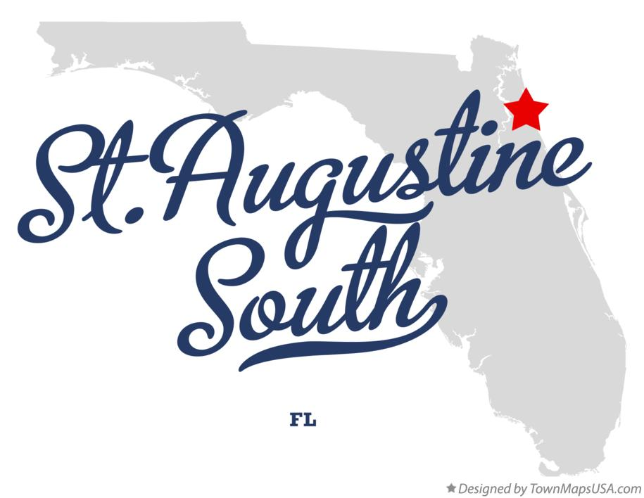 Map of St.Augustine South Florida FL