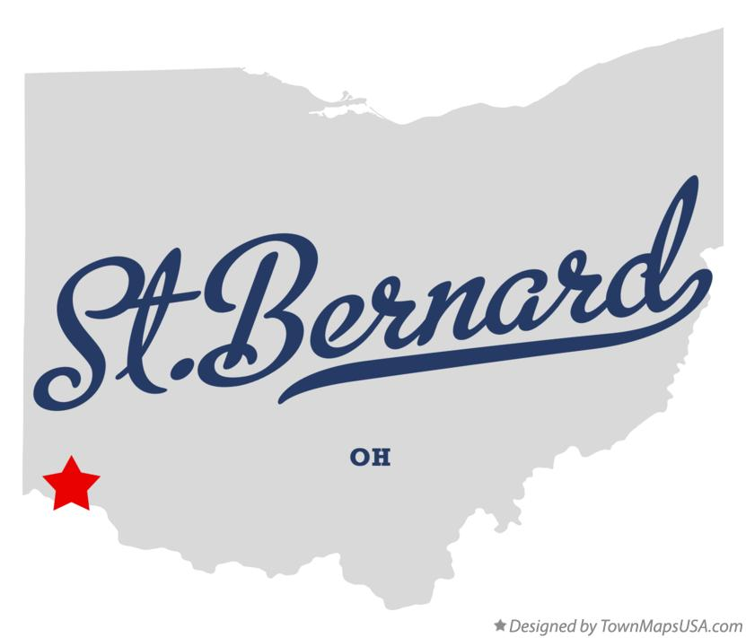 Map of St.Bernard Ohio OH