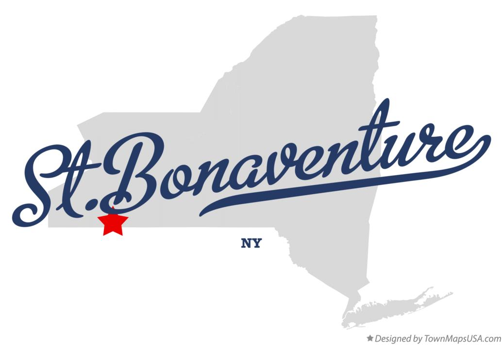 Map of St.Bonaventure New York NY