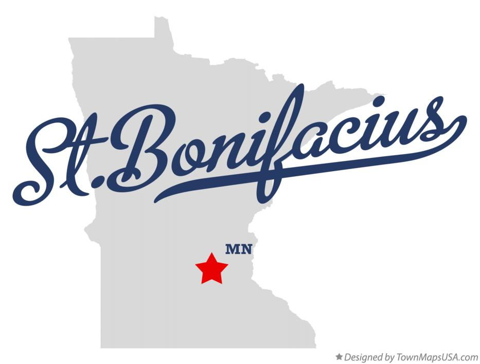 Map of St.Bonifacius Minnesota MN