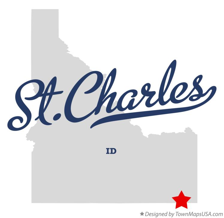 Map of St.Charles Idaho ID