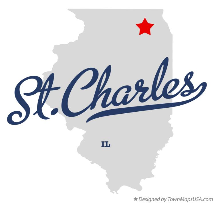Map Of St Charles Il Illinois