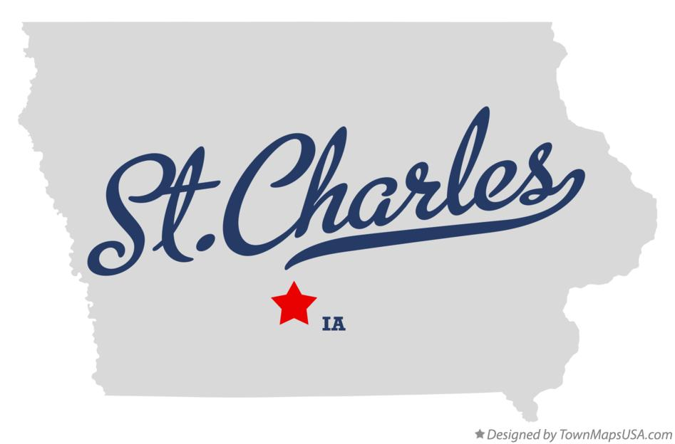 Map of St.Charles Iowa IA
