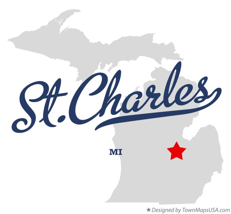 Map of St.Charles Michigan MI