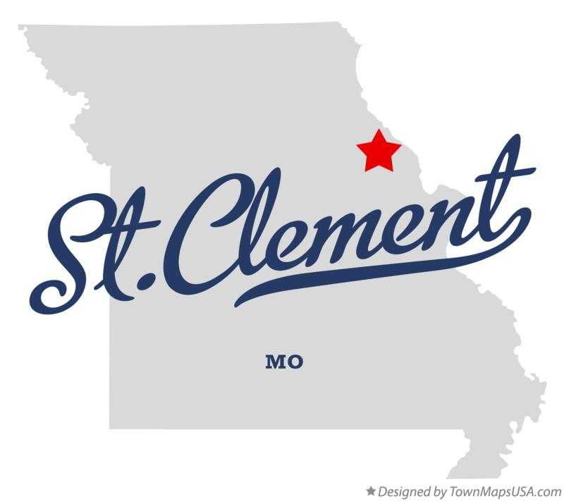 Map of St.Clement Missouri MO