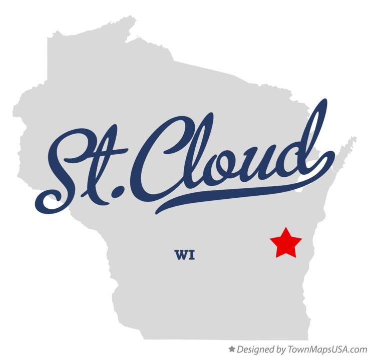 Map of St.Cloud Wisconsin WI