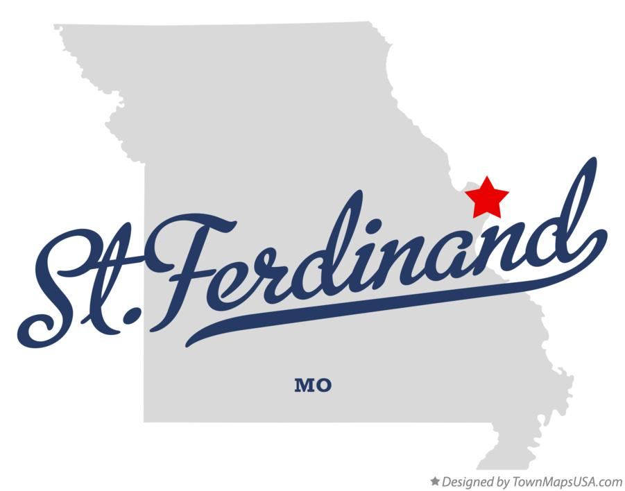 Map of St.Ferdinand Missouri MO