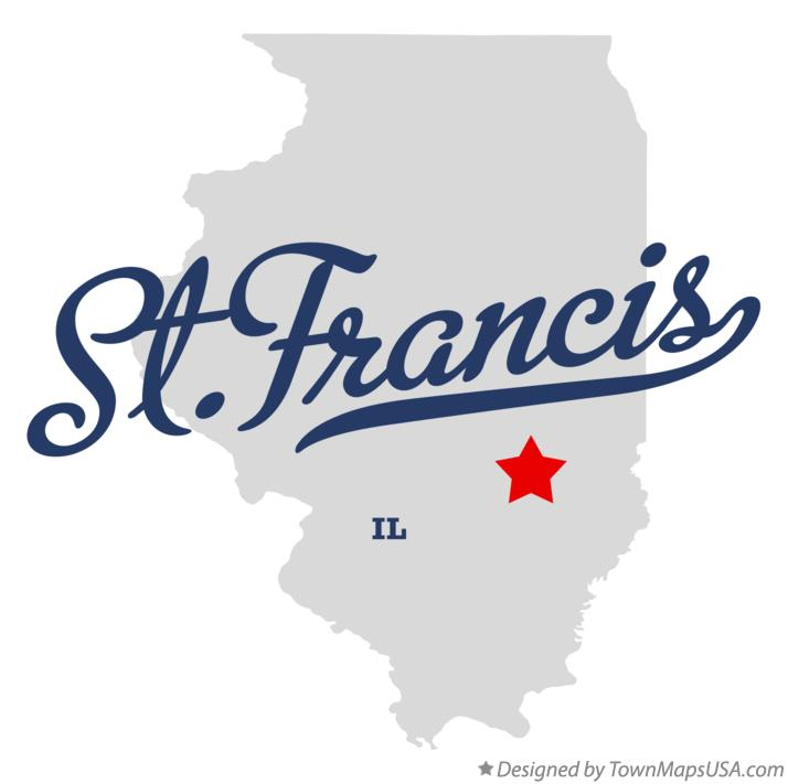 Map of St.Francis Illinois IL