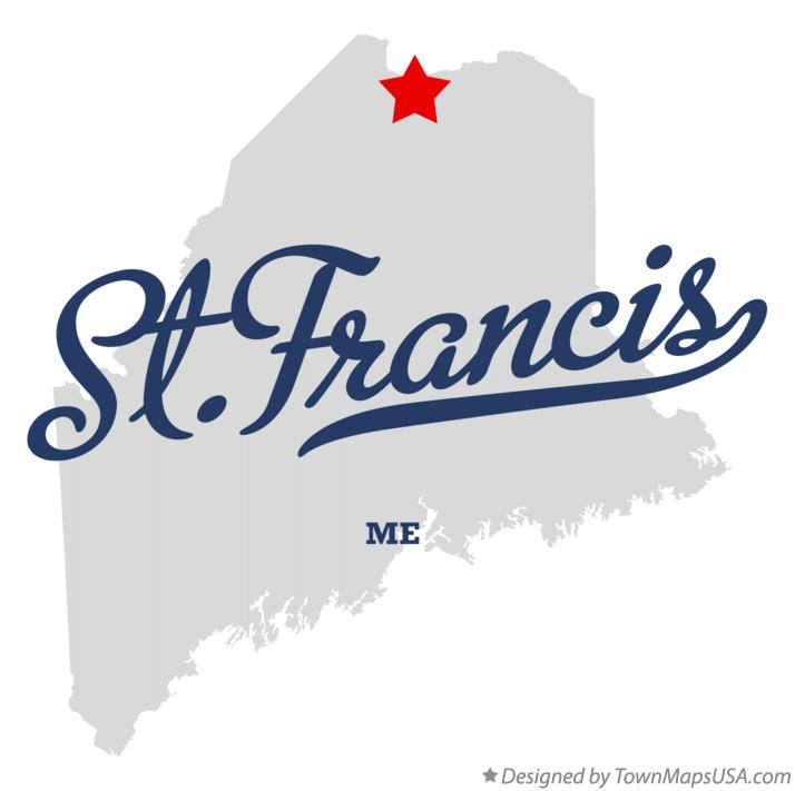 Map of St.Francis Maine ME