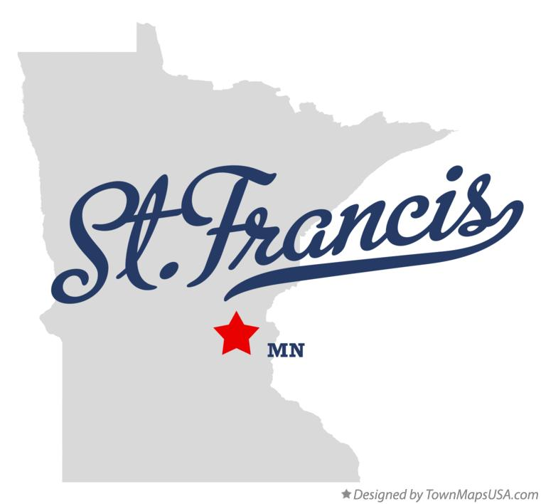 Map of St.Francis Minnesota MN
