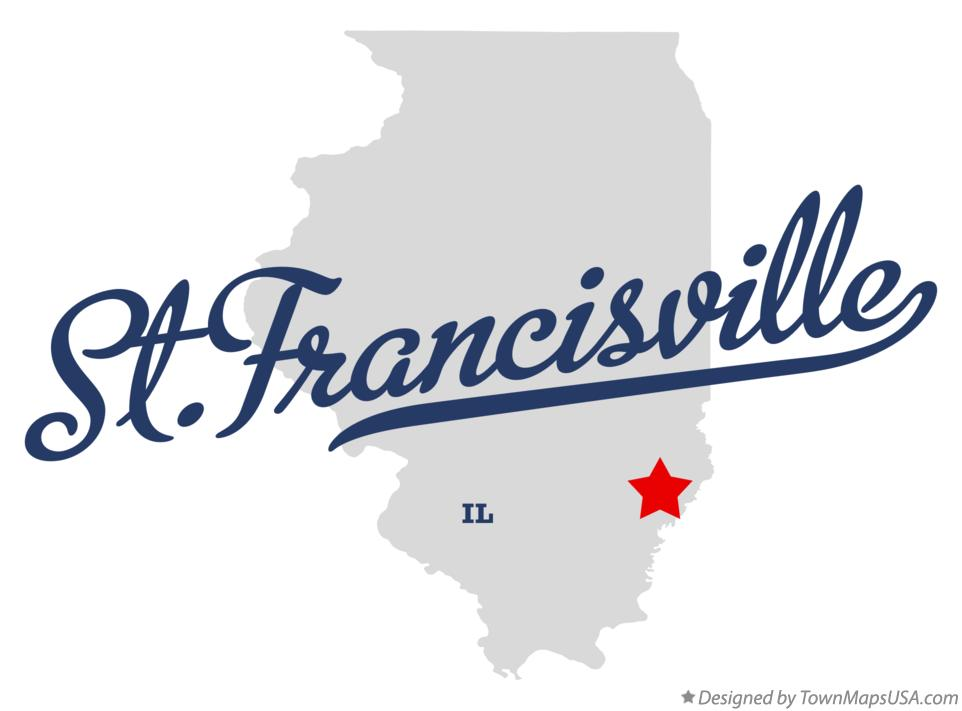 Map of St.Francisville Illinois IL