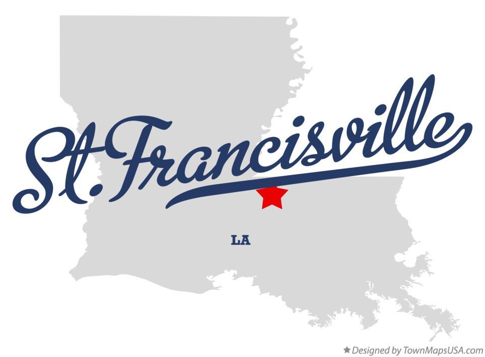 st francisville louisiana map Map Of St Francisville La Louisiana