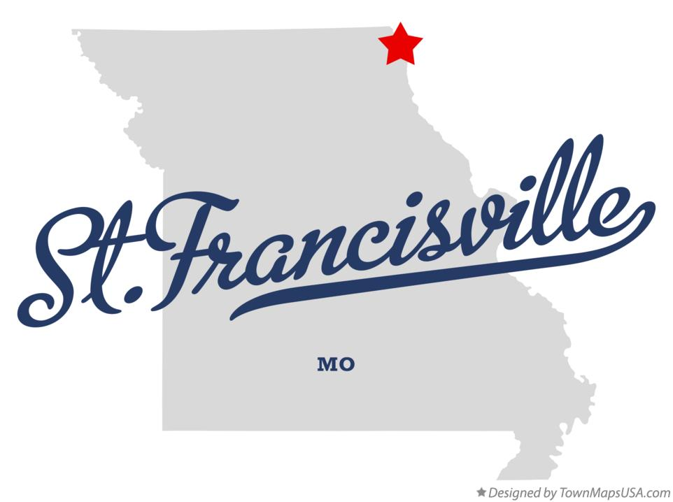 Map of St.Francisville Missouri MO
