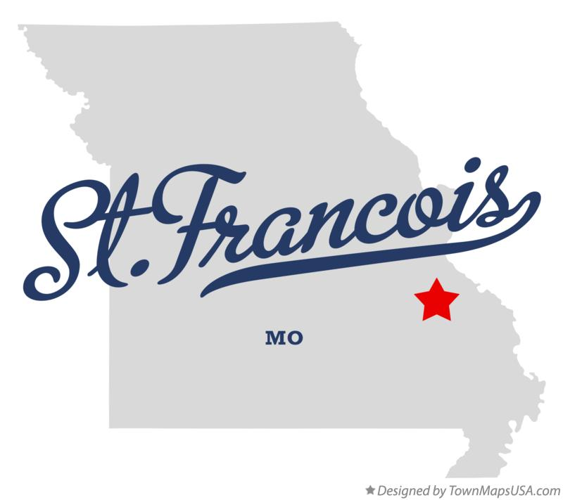 Map of St.Francois Missouri MO