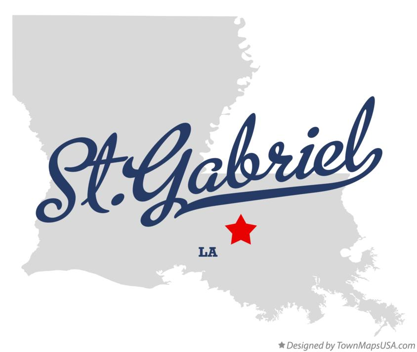 Map of St.Gabriel Louisiana LA