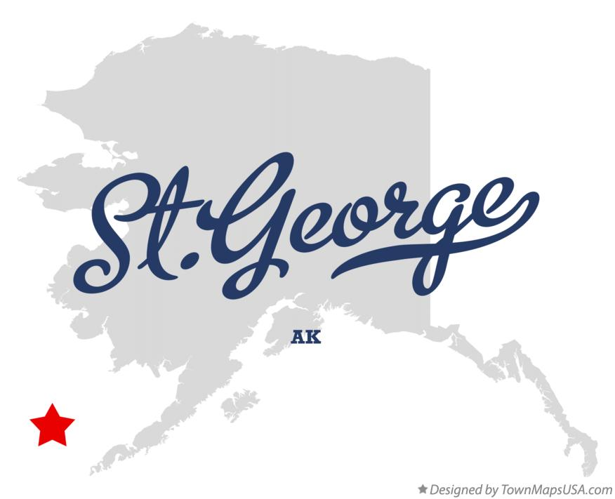 Map of St.George Alaska AK