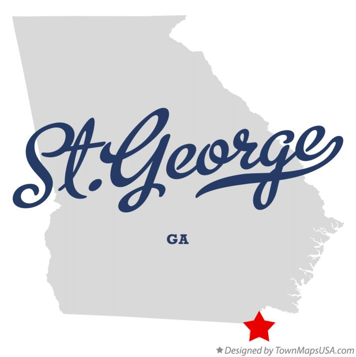 Map of St.George Georgia GA