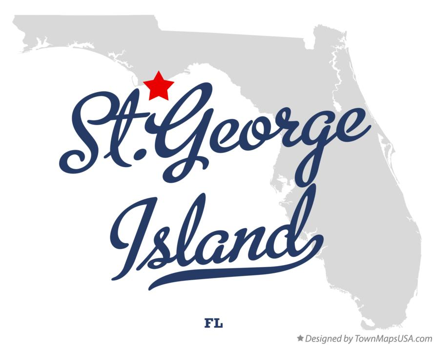 Map of St.George Island Florida FL