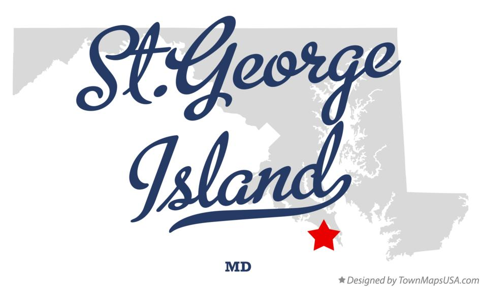 Map of St.George Island Maryland MD