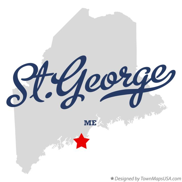 Map of St.George Maine ME