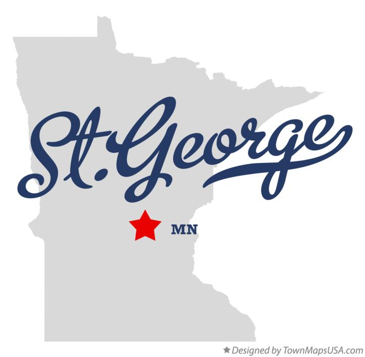 Map of St.George Minnesota MN