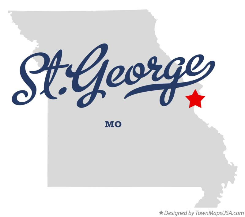 Map of St.George Missouri MO