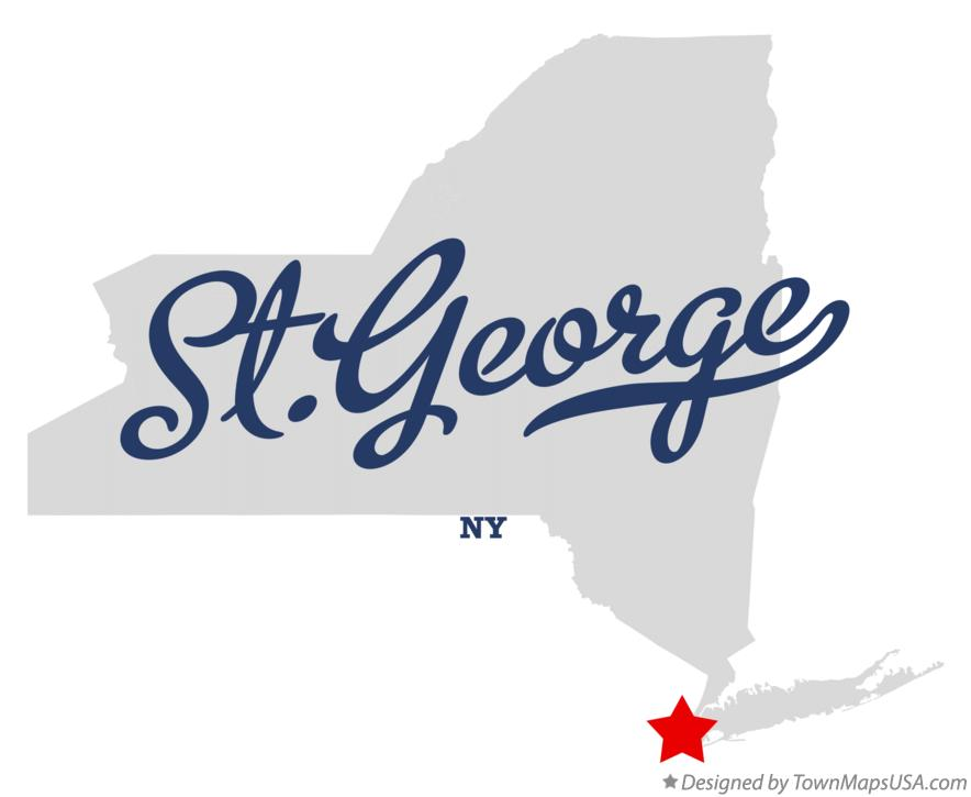 Map of St.George New York NY