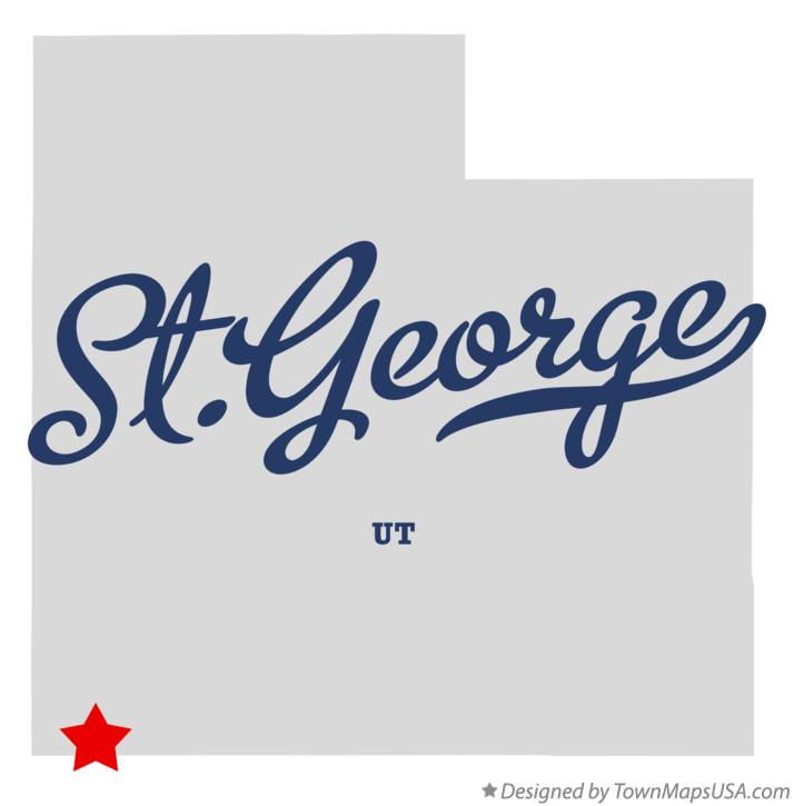Map of St.George Utah UT