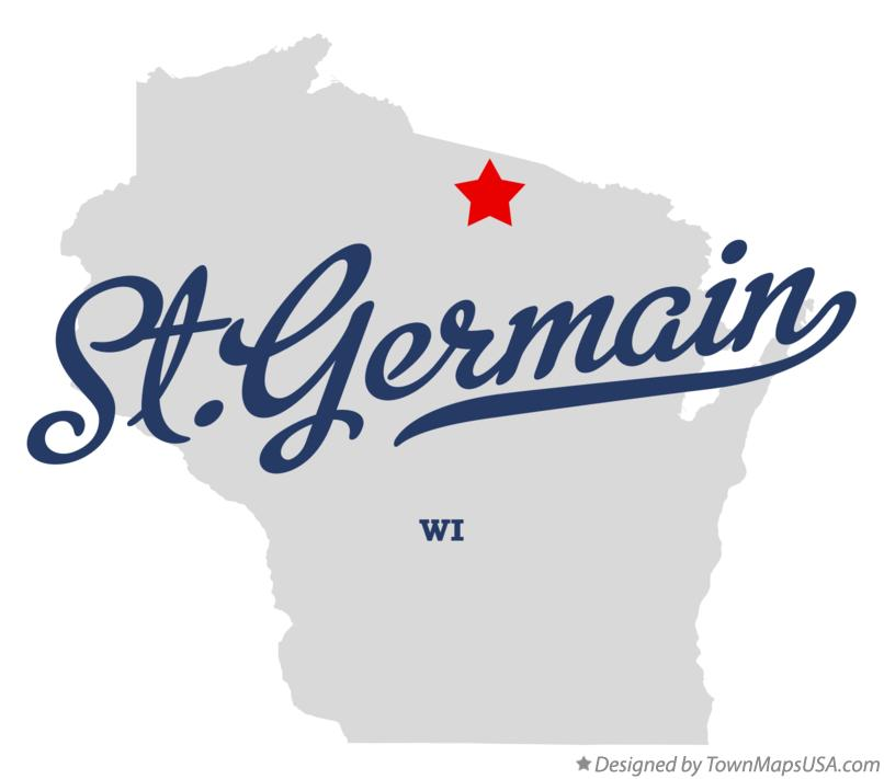 Map of St.Germain Wisconsin WI