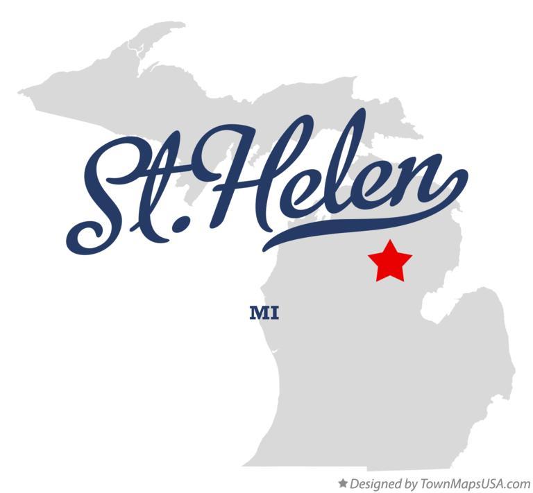 Map Of St Helen Mi Michigan