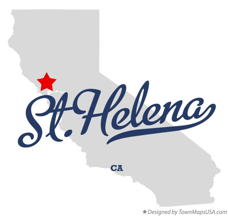 Map of St.Helena California CA