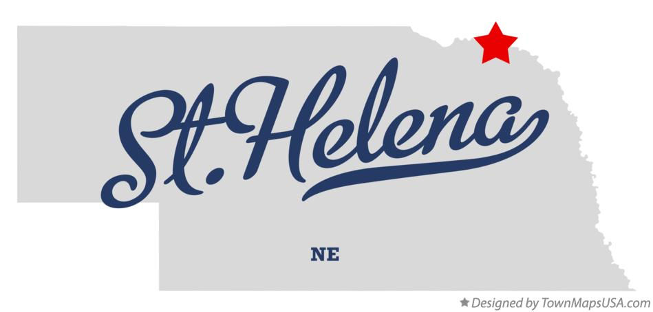 Map of St.Helena Nebraska NE
