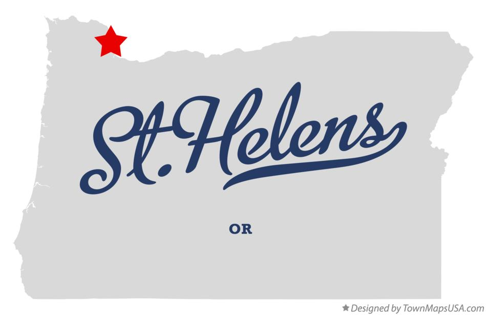 Map of St.Helens Oregon OR