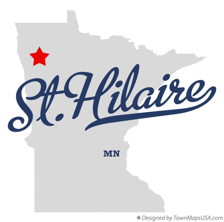 Map of St.Hilaire Minnesota MN