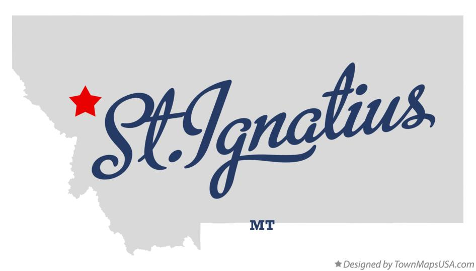 Map of St.Ignatius Montana MT