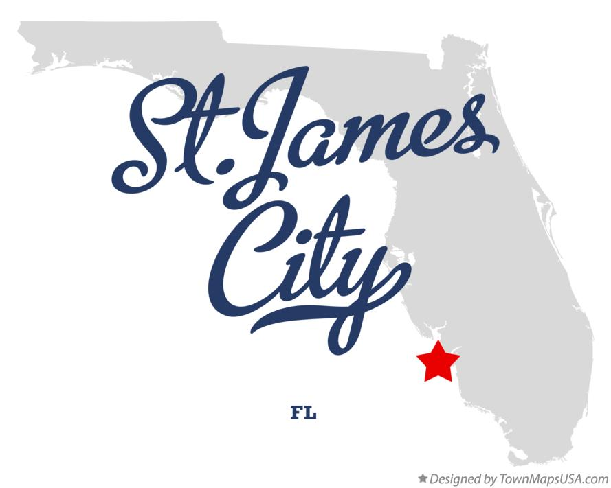 Map of St.James City Florida FL