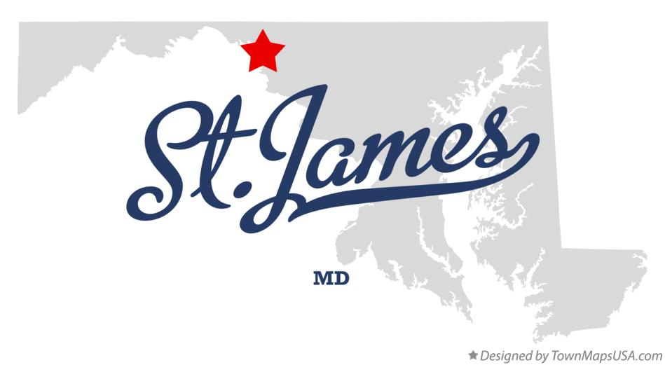 Map of St.James Maryland MD