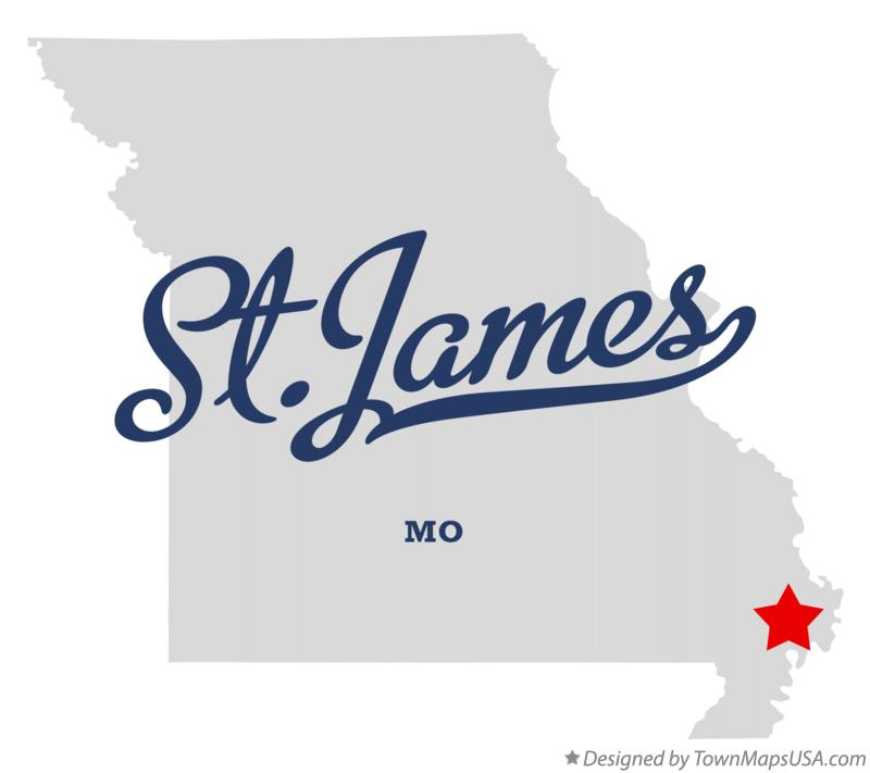 Map of St.James Missouri MO
