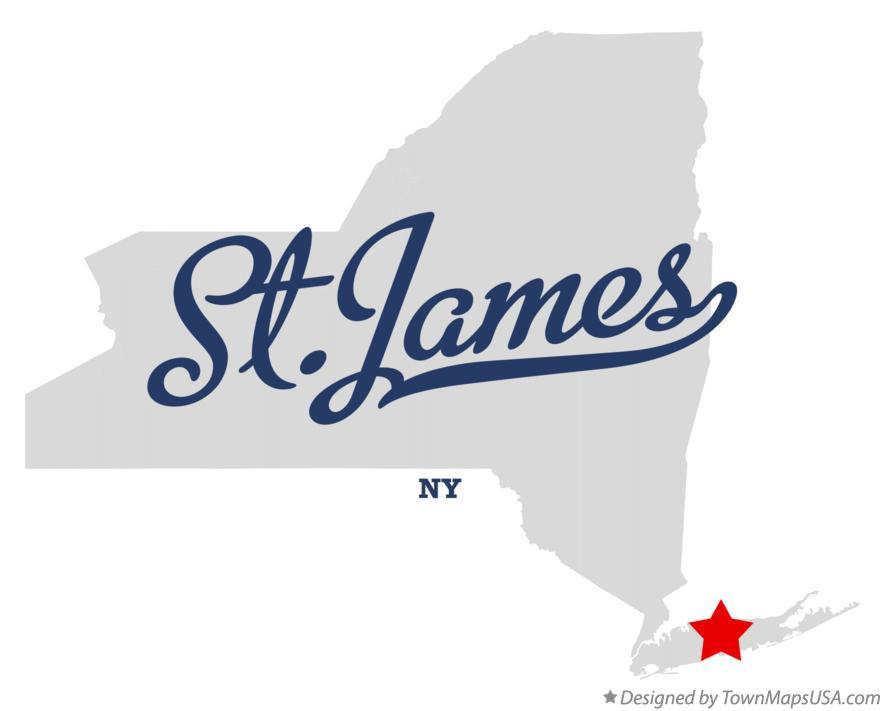 Map of St.James New York NY