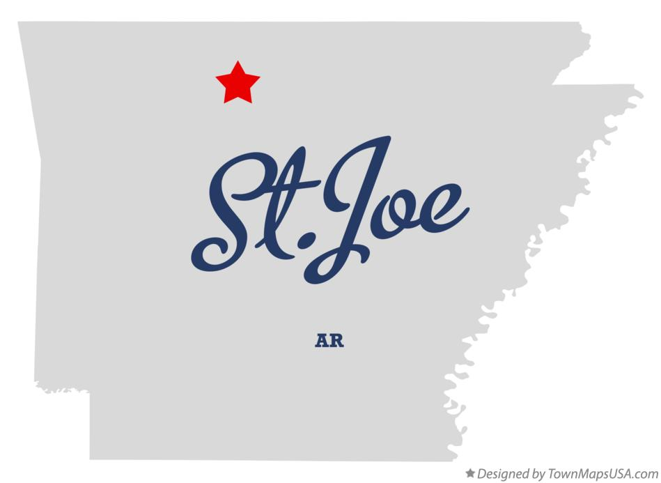 Map of St.Joe Arkansas AR
