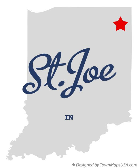 Map of St.Joe Indiana IN