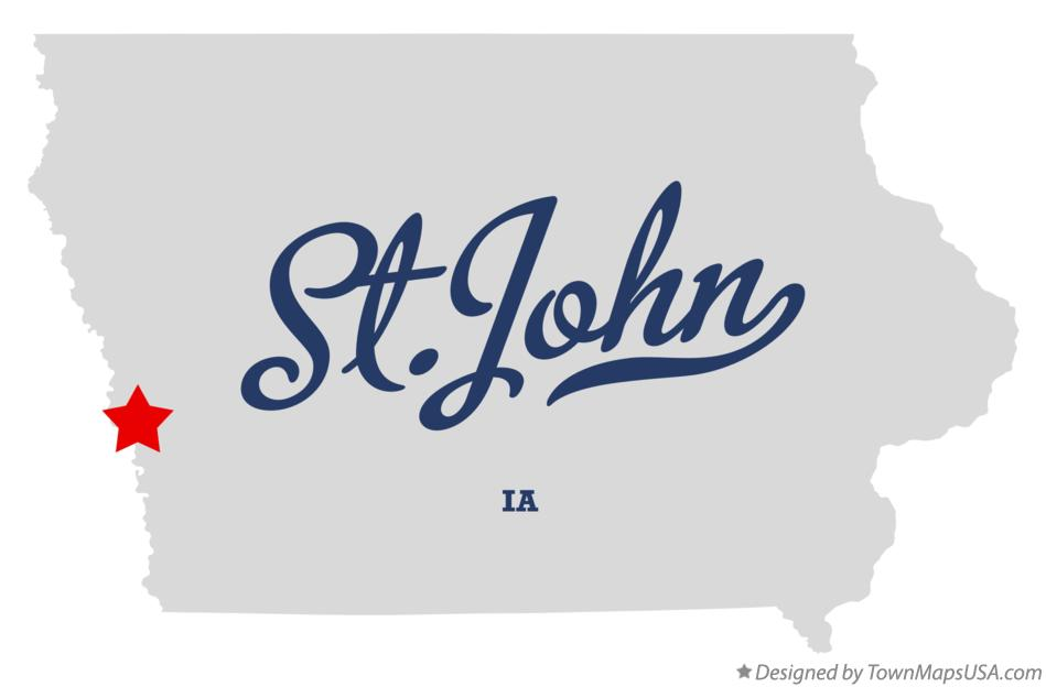 Map of St.John Iowa IA