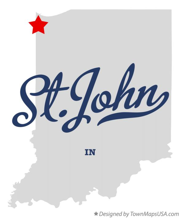 Map of St.John Indiana IN